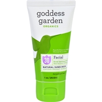 Goddess Garden Organic Sunscreen Counter Display - Tube - 1 oz - Case of 20