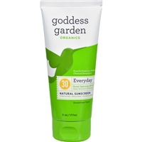 Goddess Garden Sunscreen - Organic - Natural - Sunny Body - SPF 30 - 6 oz