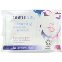 Natracare Make-Up Removal Wipes - Cleansing - 20 Count