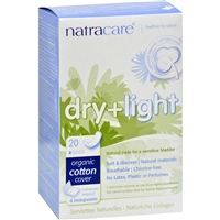 Natracare Dry and Light Incontinence Pads - Individually wrapped20 Pack