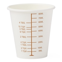 Graduated Disposable Paper Cup- 3 oz  125/pk