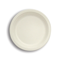 "Med/Large Round Plates- Tree-free, made from Sugar Cane, 8"", 9"", 10"""