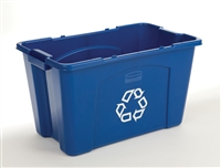 Rubbermaid 14 Gallon Blue Recycling Box