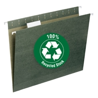 100% recycled hanging file folders