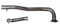 2015 - 2016 Subaru WRX MRT Version 1 J-Pipe (without Catalyst) and Mid-Pipe Only 92P116