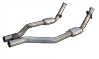 2005 - 2010 Mustang GT MRT MaxFlow H-Pipe with HiFlow Cats 93A200