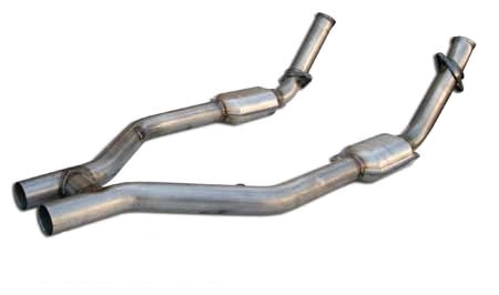 2005 - 2010 Mustang GT MRT MaxFlow Performance H-Pipe with High Flow Cats 93A200