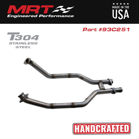 1996-1998 Mustang GT & Cobra MaxFlow Off-Road H-Pipe Performance Exhaust 93C251