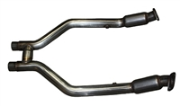 2011 - 2014 Mustang V6 MaxFlow Performance H-Pipe with High Flow Cats 93P200-400