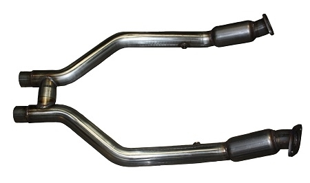 2011 - 2014 Mustang V6 MRT MaxFlow Performance H-Pipe with Race Catalysts 93P200-200