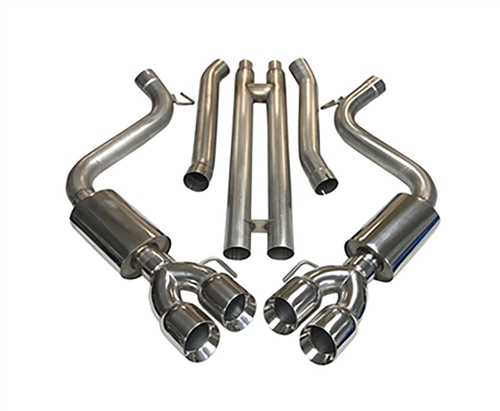 2018 - 2020 Mustang GT MRT Interceptor QuadTip Cat-Back with H-Pipe Performance Exhaust System 93U917