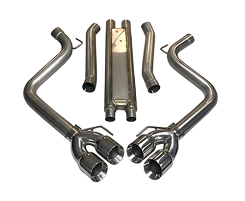 2018 - 2020 Mustang GT MRT KR Quad Tip Cat-Back with Drone Management System Performance Exhaust System 93U919