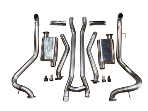 "1966-1970 Mustang V8 2.5"" MRT ChamberFlow After Manifold Exhaust System"