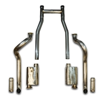 "1966-1970 Mustang V8 3"" MRT ChamberFlow After Manifold Exhaust System"