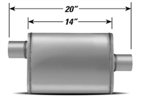 Xlerator Performance Muffler 2.5in inlet & Outlet