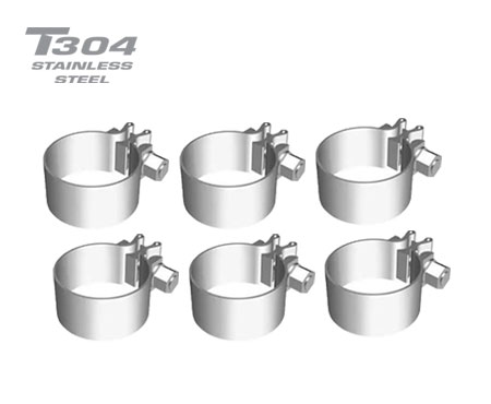 6 pack 2.5in Stainless Steel Band Clamp