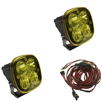 Baja Designs Squadron Pro, Pair Amber LED Driving/Combo
