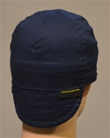 Welding caps or hats navy blue in color.