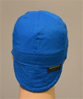welding hats or caps light blue in color.