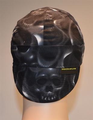 Welding Hats Black Skulls