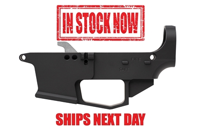 AR-9 80% Lower - Billet 6061 - Black Anodized - Glock Mag Compatible