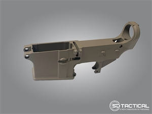 AR-15 80% Lower - Forged 7075-T6 - Cerakote FDE
