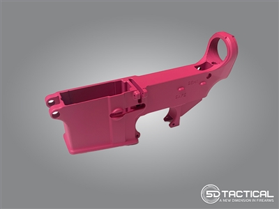 AR-15 80% Lower - Forged 7075-T6 - Cerakote Pink
