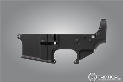 AR-15 80% Lower - Forged 7075-T6 - Black Anodized
