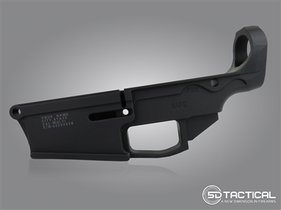 Engraved AR-308 80% Lower Billet 7075-T6 | Black Anodized