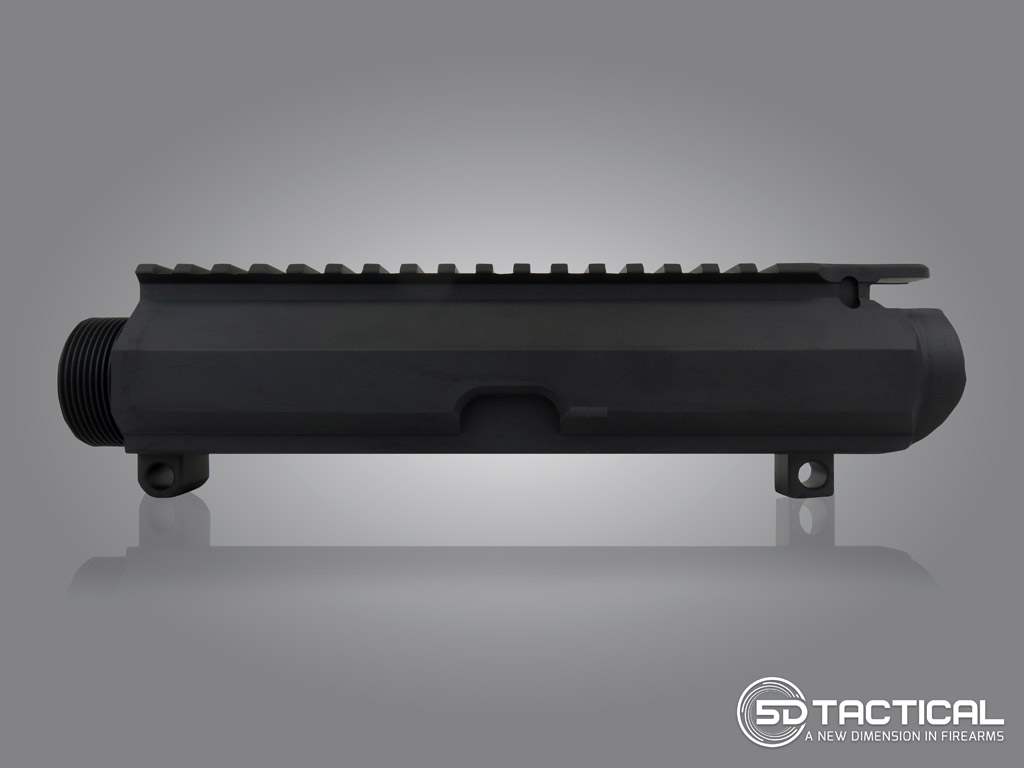 Billet AR-308 Stripped Upper Receiver - Black Anodized
