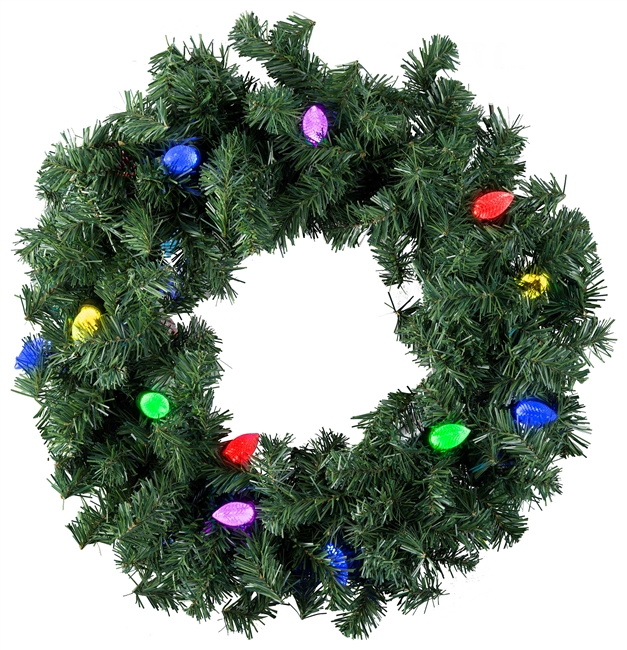 LED Lighted Wreath
