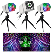 "LED Projectionâ""¢ Set with 3 Spotlights and Speaker"