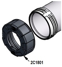 2C1801 black air cap for C-110CXO gun