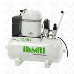 Silent Compressor High Output 24 Litre Tank 75/250