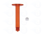 3cc Amber Syringe Barrel with white wiper piston 903-DW
