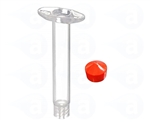 3cc Syringe Barrel with red flat wall piston 903-NWR