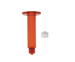 5cc Amber Syringe Barrel with white wiper piston