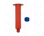 10cc amber Syringe Barrel with blue wiper piston