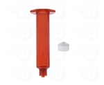 10cc amber Syringe Barrel with white wiper piston