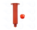 10cc amber Syringe Barrel with red wiper piston