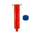 30cc Amber Syringe Barrel with blue wiper piston