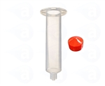 30cc Syringe Barrel with red flat wall piston