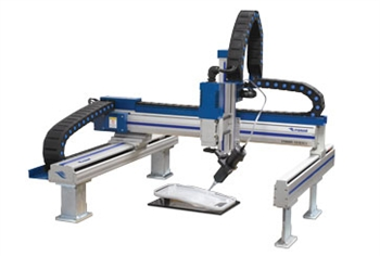 Gantry style 3 axis robot 800mm x 600mm work area.