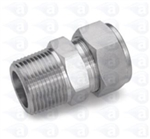 Fitting 4mm OD Tube Thru. x 1/4 NPT SS P3000046