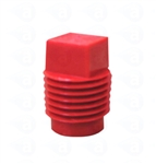 Red threaded tip cartridge cap seal TS4P