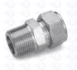 "1/8"" NPT to 1/4"" compression straight fitting TSD1002-18SS"