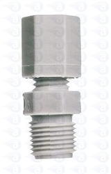 "1/8"" NPT to 1/4"" compression straight fitting TSD1002-18W"