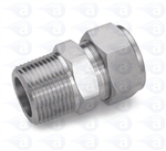 "1/4"" NPT to 1/4"" compression straight fitting TSD1002-19SS"