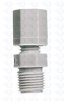"3/8"" NPT to 3/8"" compression straight fitting TSD1566-6P"