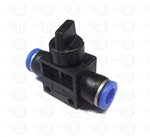 Inline Flow Valve with On/Off 6mm Push Fit TSD806-2